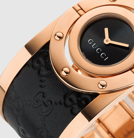 Gucci Pink Gold Watch Gucci Twirl Large Pink Gold