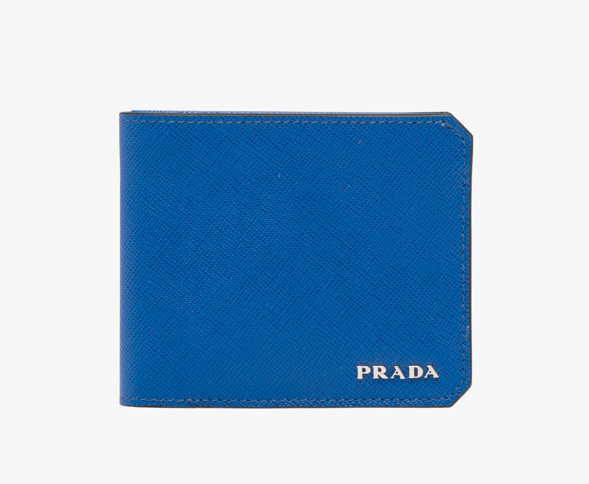 blue prada wallet mens