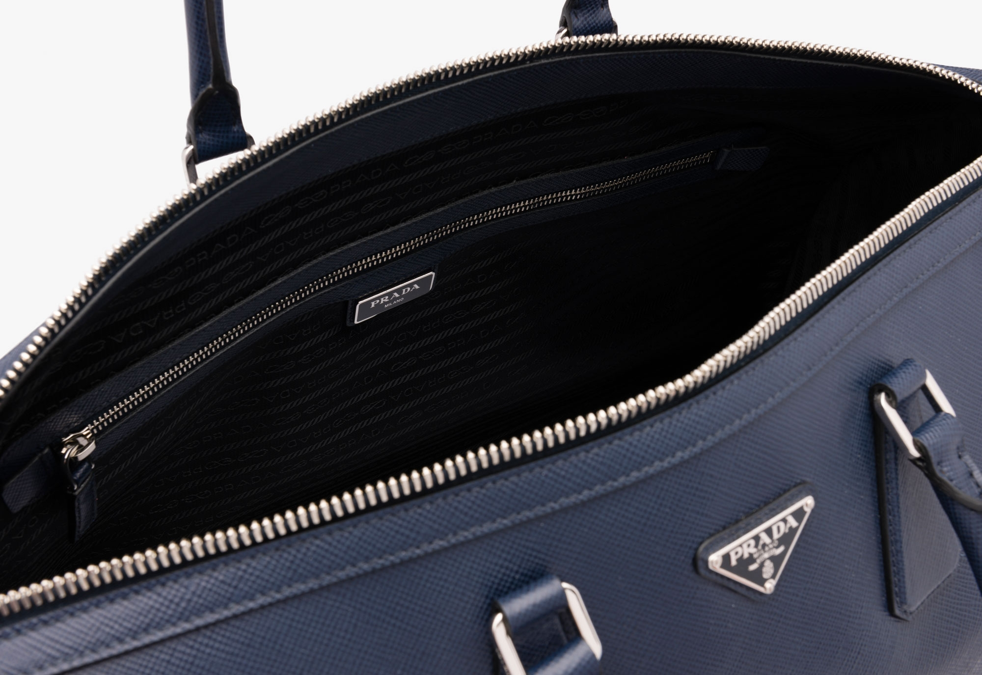 parada handbag - prada leather weekend bag