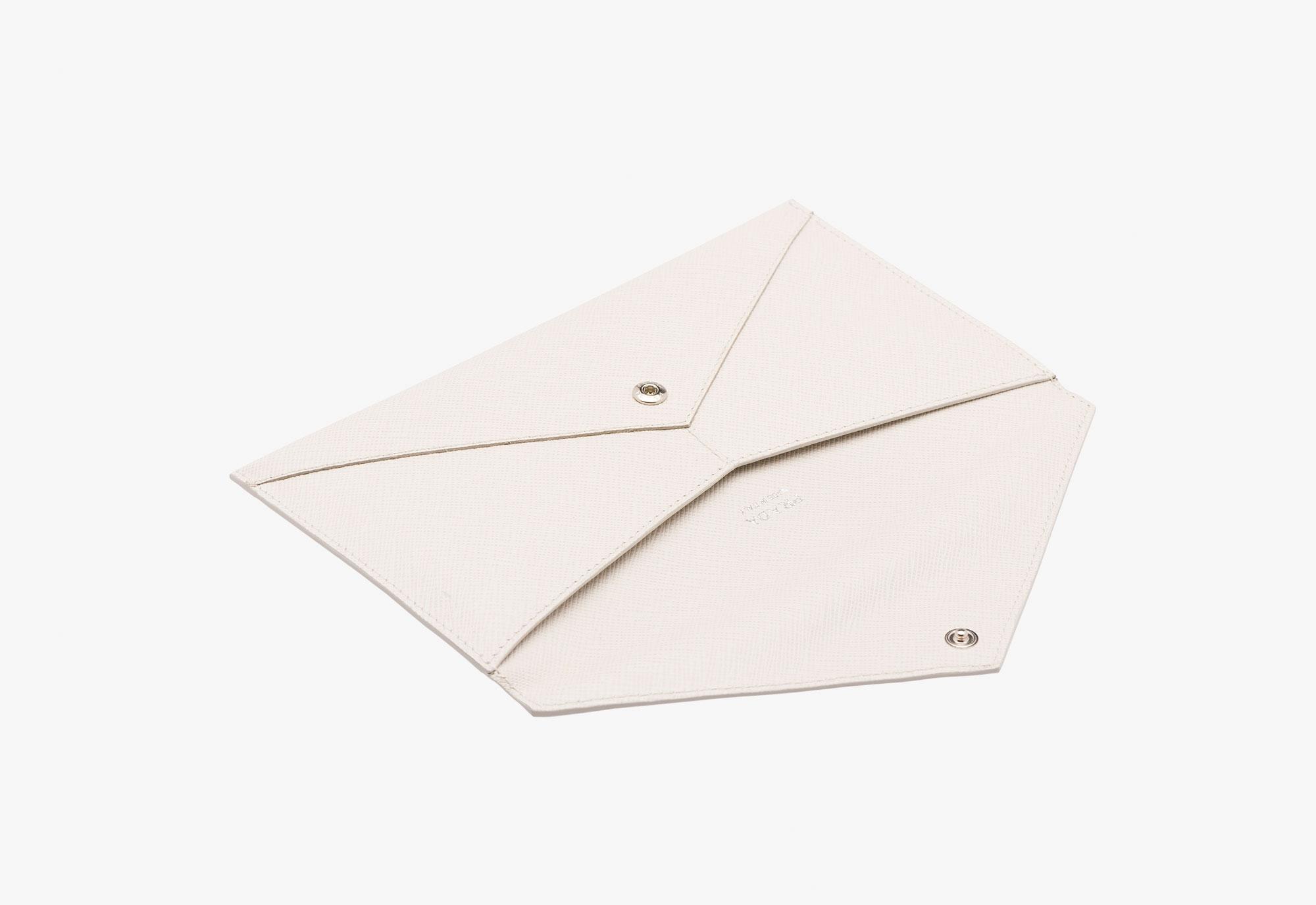 prada wallet chalk white