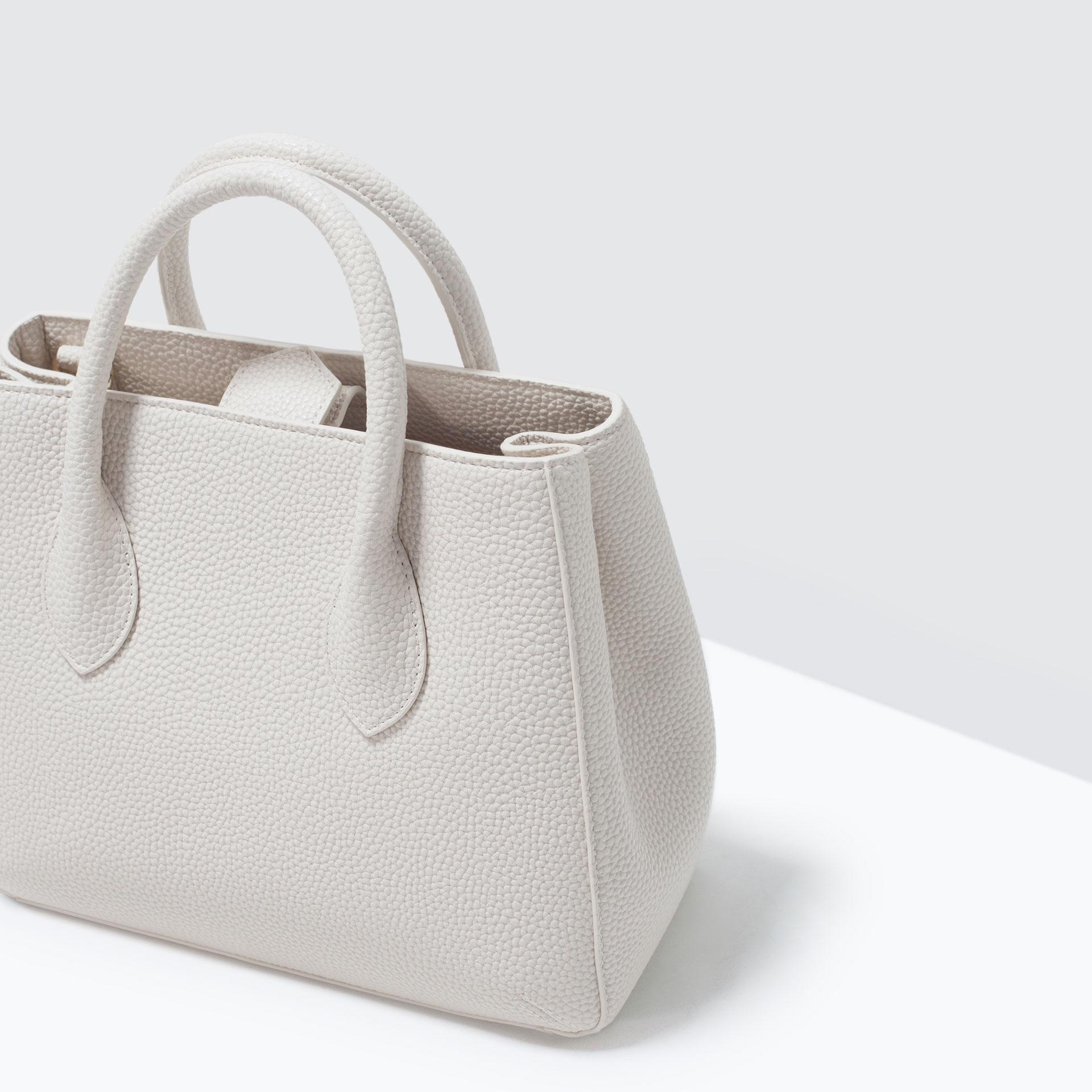 ZARA Mini City Bag White 4299/004 - Buy online at lowest price in