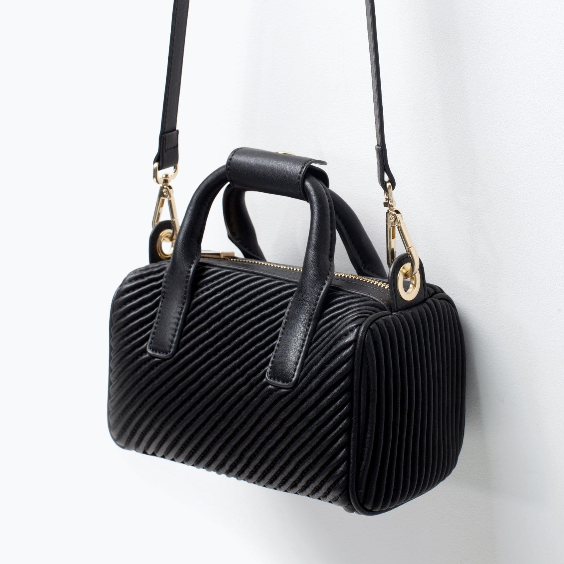 Zara Mini Bowling Bag Zara Quilted Mini Bowling Bag